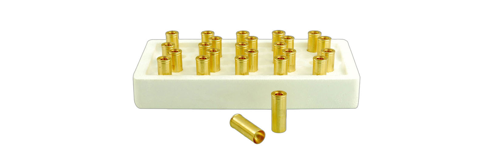 25 indoor brass cases box