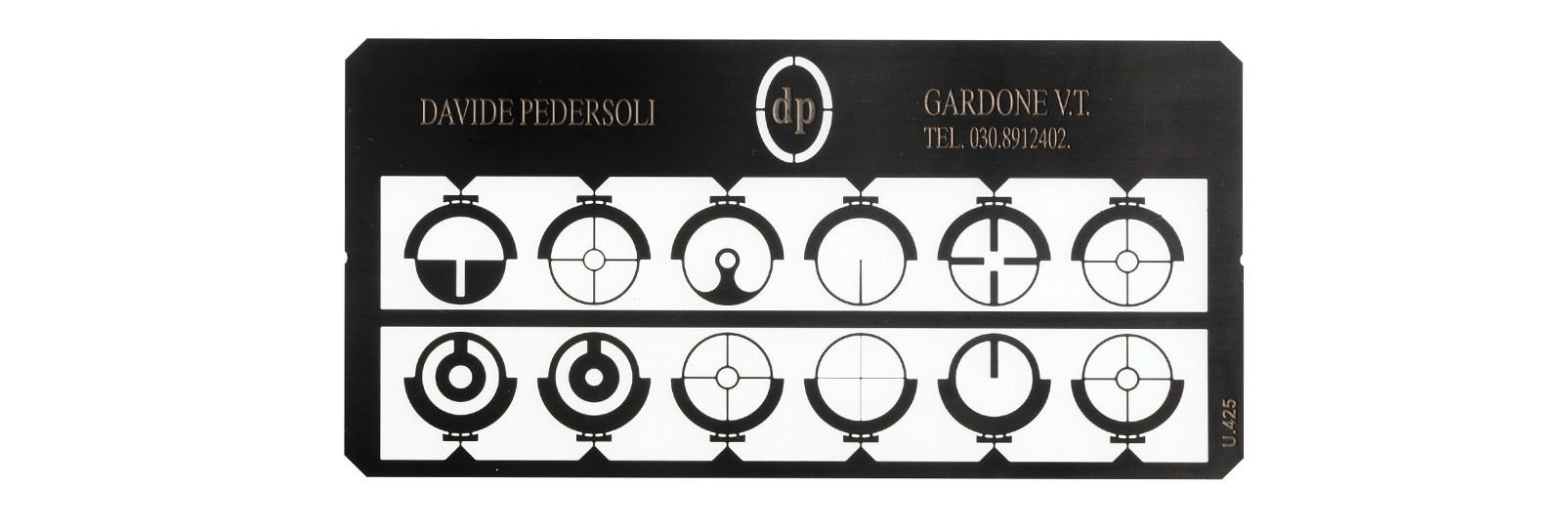 12 tunnel sight inserts set for cartridge firearms
