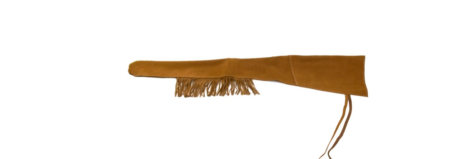 Short leather gun sleeve