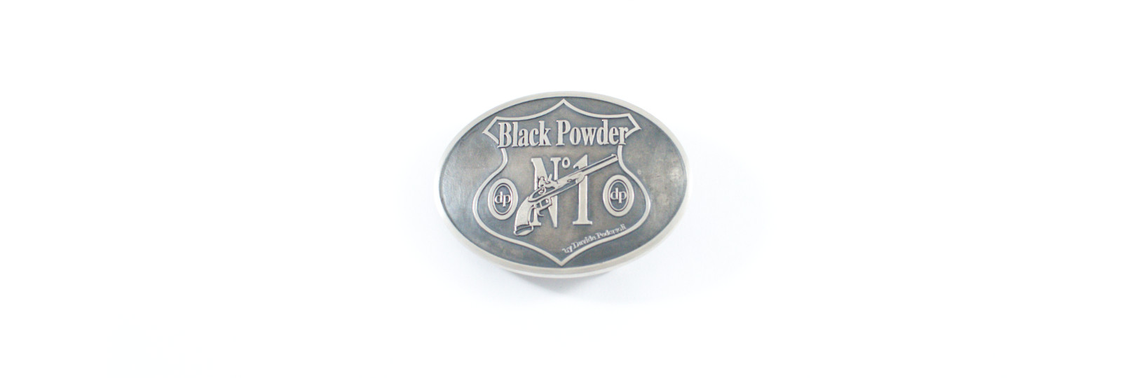 """Fibbia argento """"black powder n 1"""""""