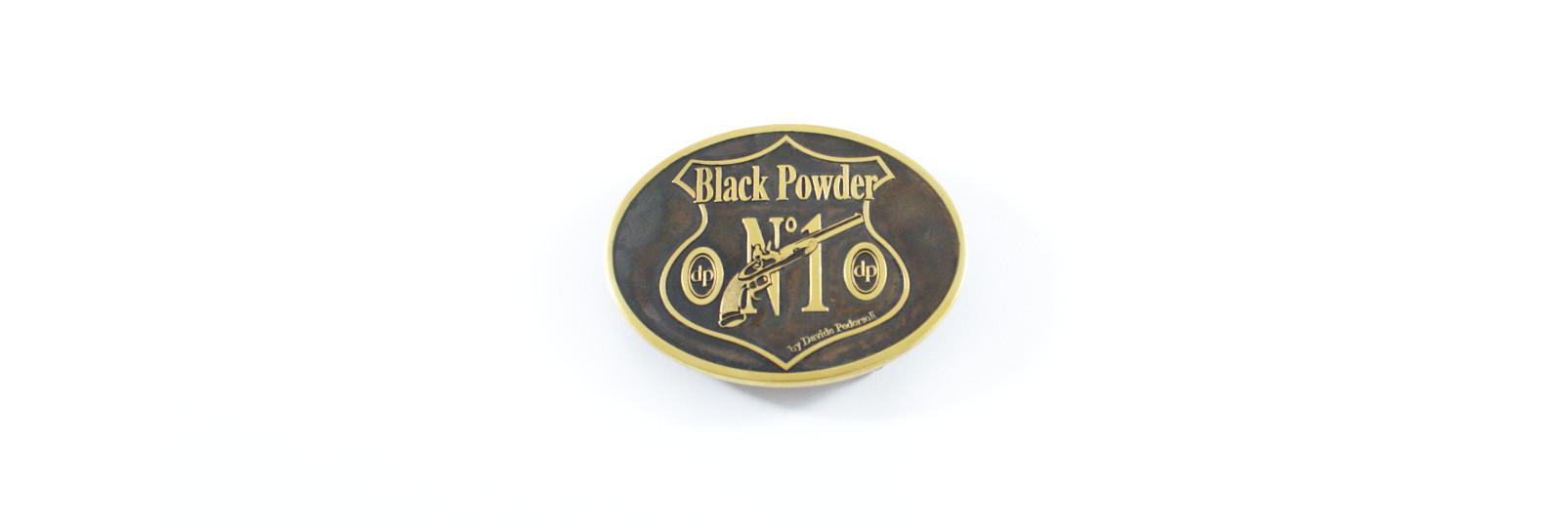 "Fibbia ottone bronzato ""black powder n 1"""