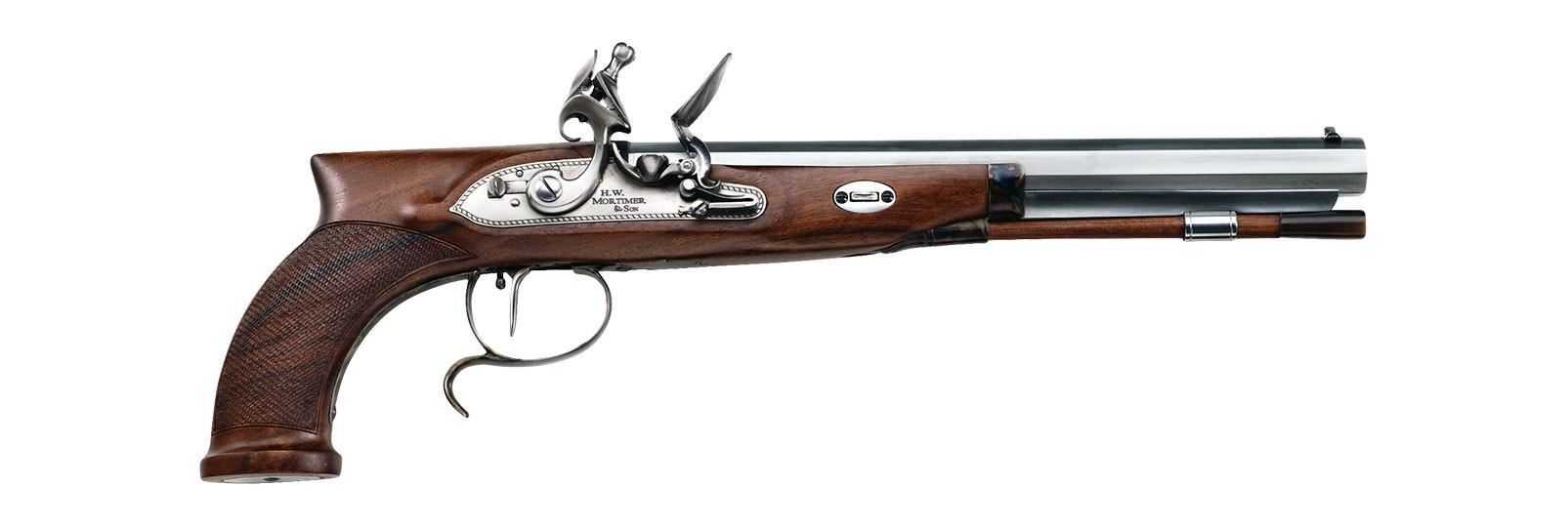 Pistola Mortimer a pietra focaia cal .44 liscia