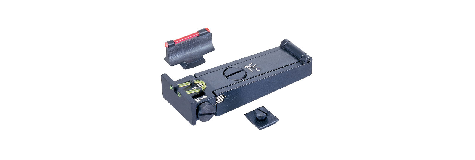 Rolling Block rifle front sight and rear sight set