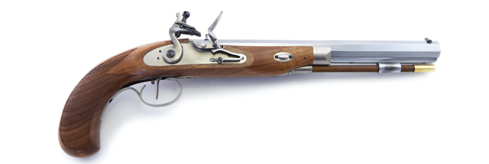 Pistola Charles Moore Target a pietra focaia