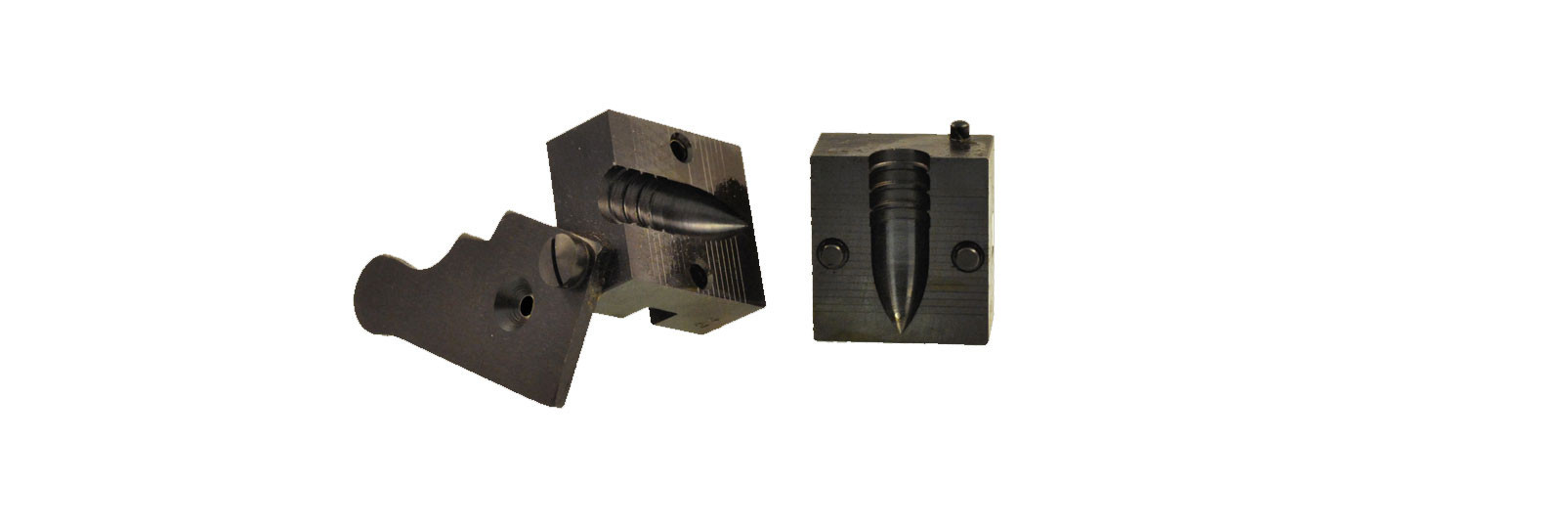 Bullet mould block with 1 cavity - minie' bullet