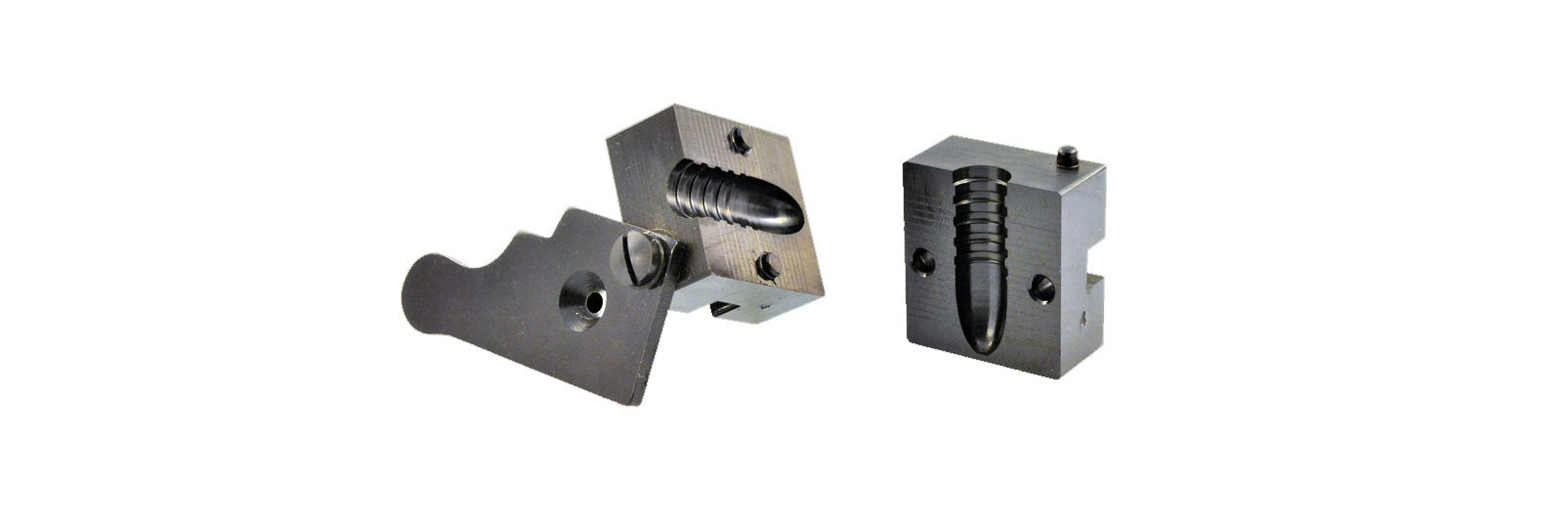 Bullet mould block with 1 cavity - conical bullet
