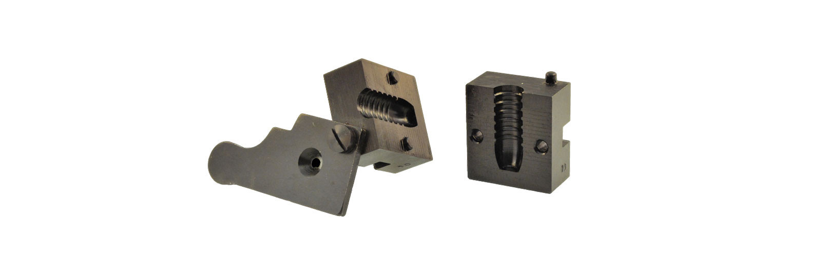 Bullet mould block with 1 cavity - long bullet
