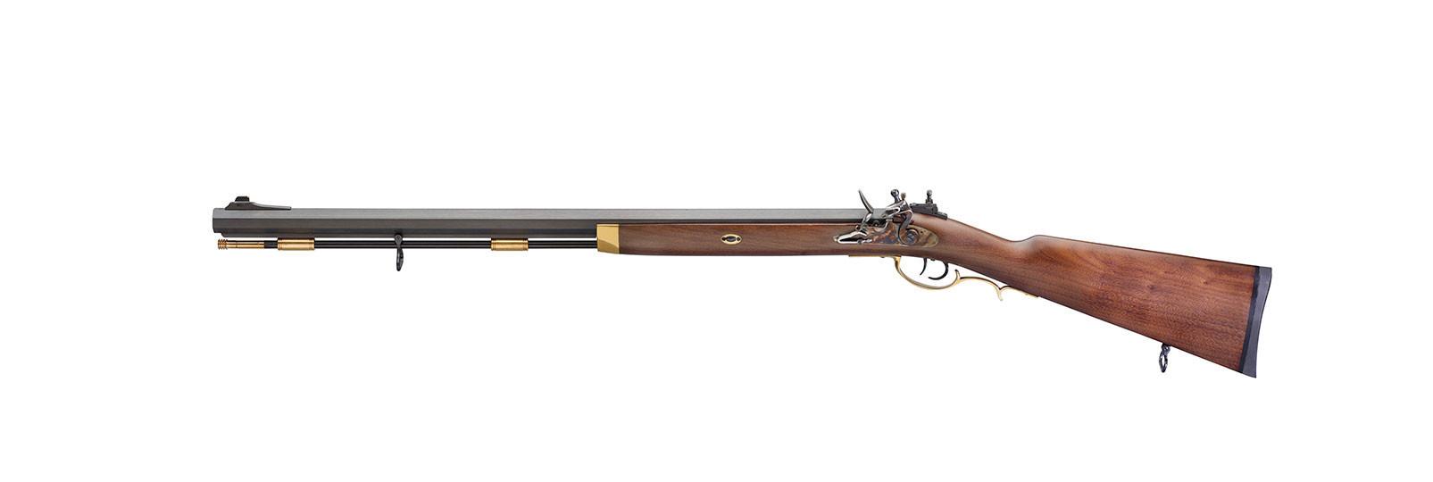 Traditional Hawken Hunter Rifle left hand flintlock...
