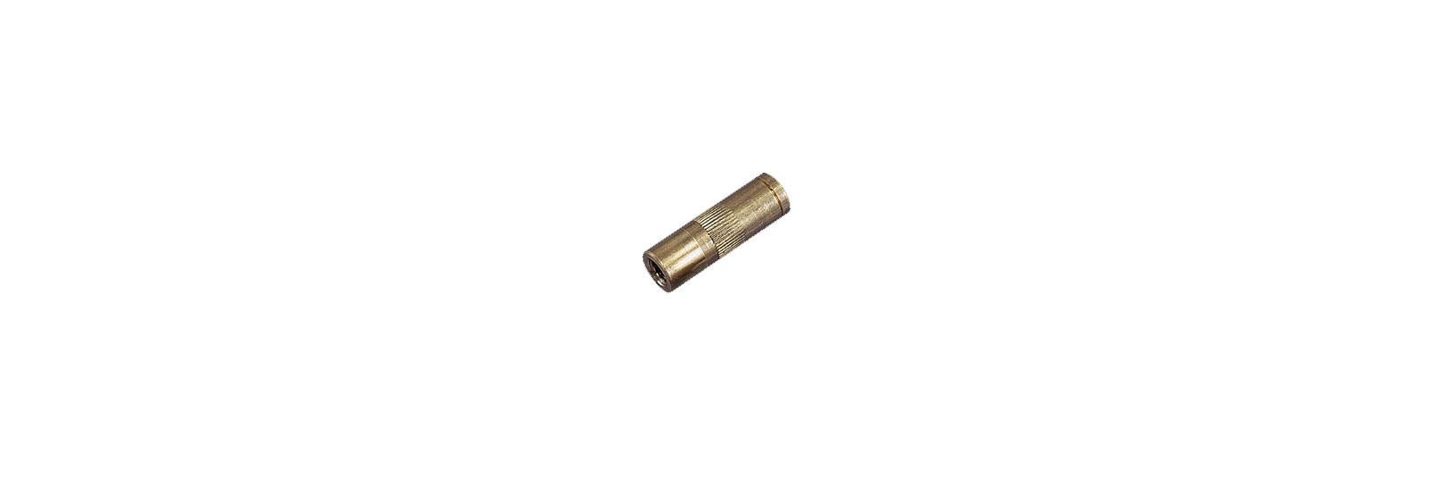 Brass reduction female/female thread 5MA/10-32