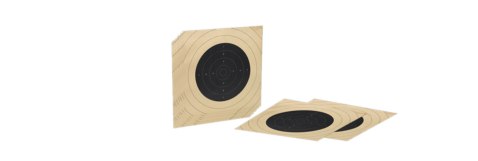 Set 10 paper targets for indoor shooting