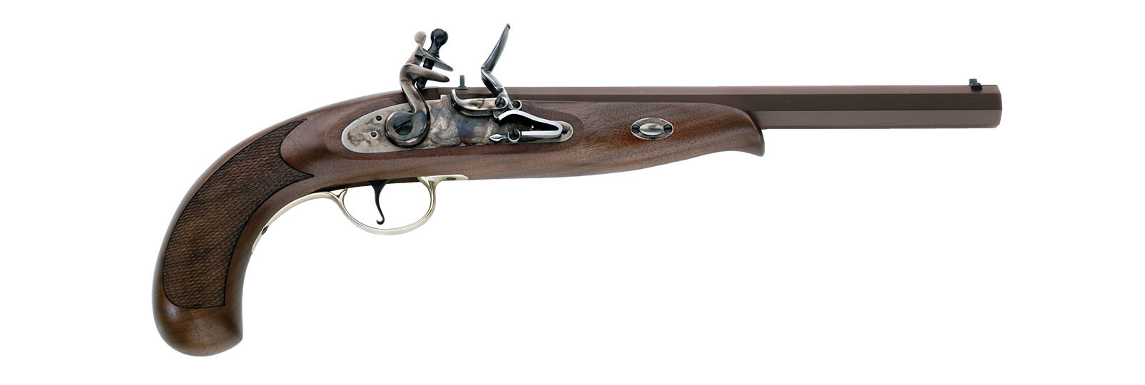 Pistola Continental Duelling a pietra focaia