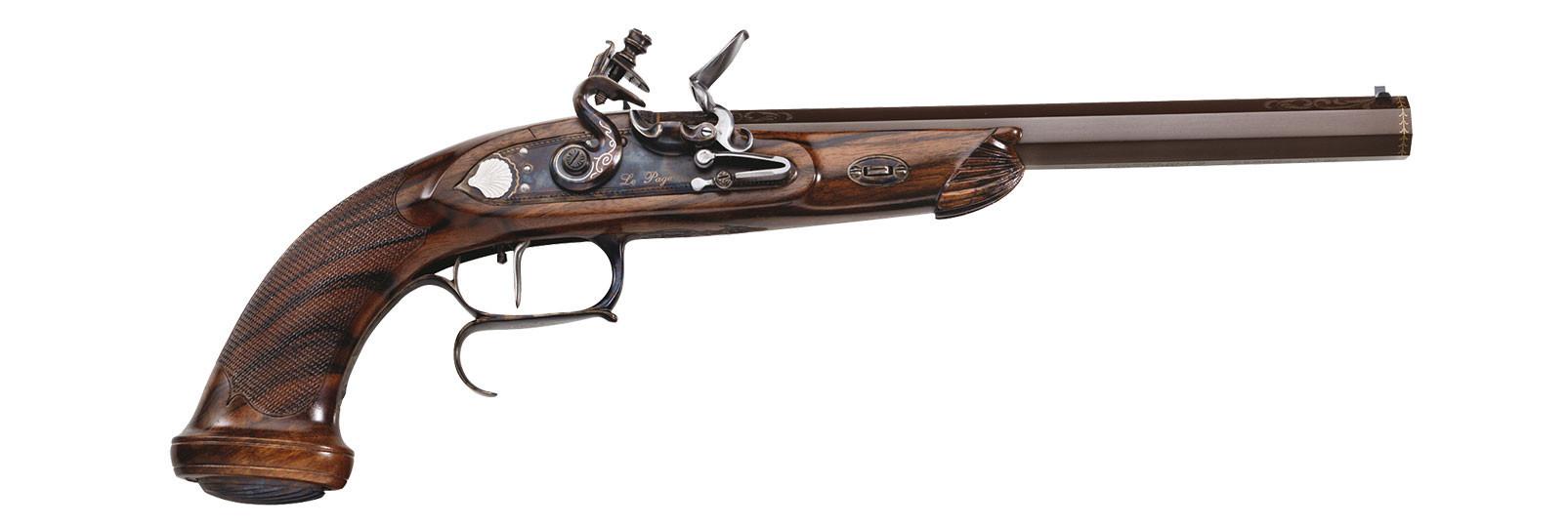 """Le Page """"Target"""" DELUXE Pistol flintlock model"""