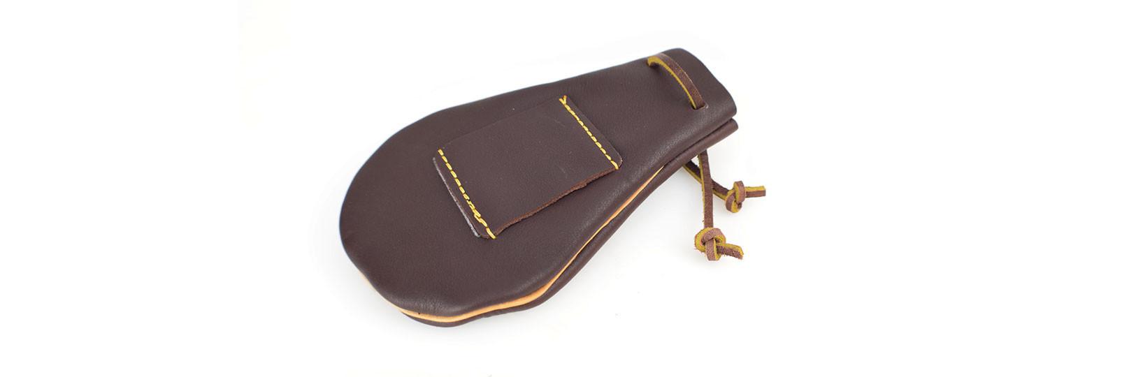 Leather bullet bag