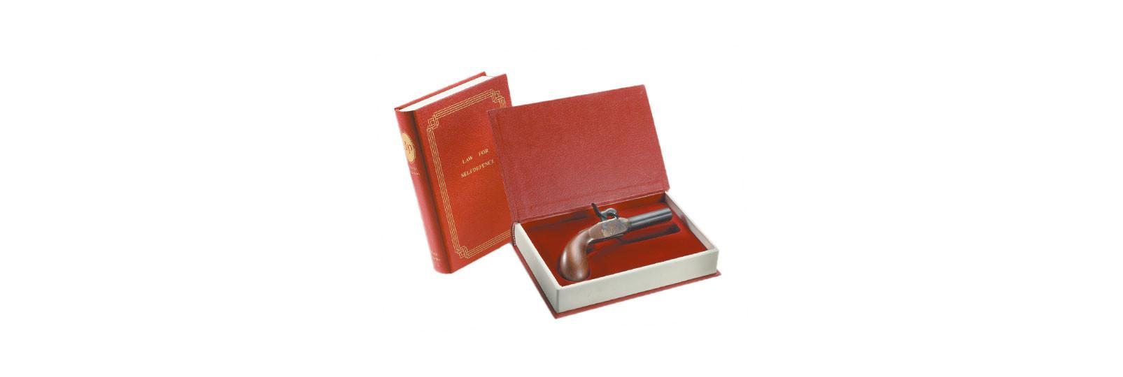 Derringer Liegi Pistol with book case