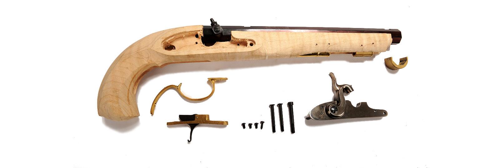"Kentucky ""maple"" percussion model pistol kit"