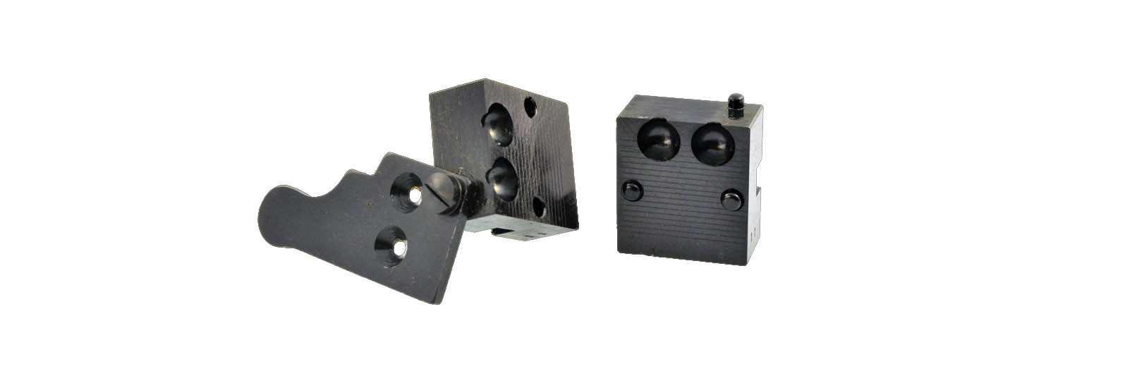 Bullet mould block with 2 cavity - round ball